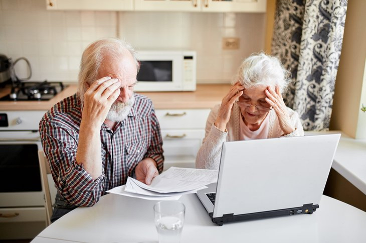 Senior couple worried about paying bills