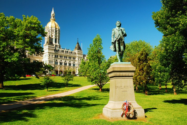 Connecticut capitol building in Hartford