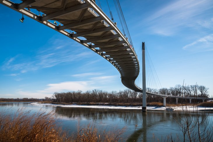 Bob Kerrey Pedestrian Bridge in Omaha, Nebraska