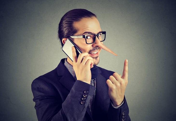 Phishing scam liar on phone