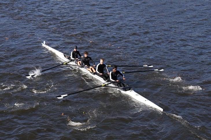 Bowdoin College rowers