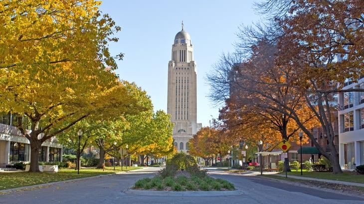 Nebraska city scene