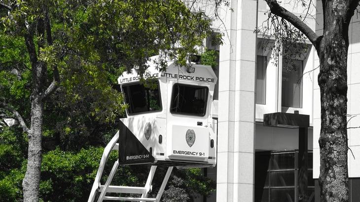 Police observation tower in Little Rock, Arkansas