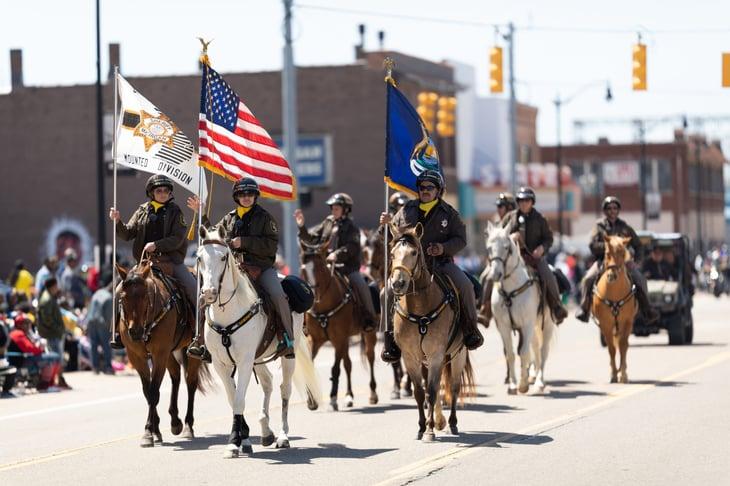 Sheriff deputies in Benton Harbor, Michigan