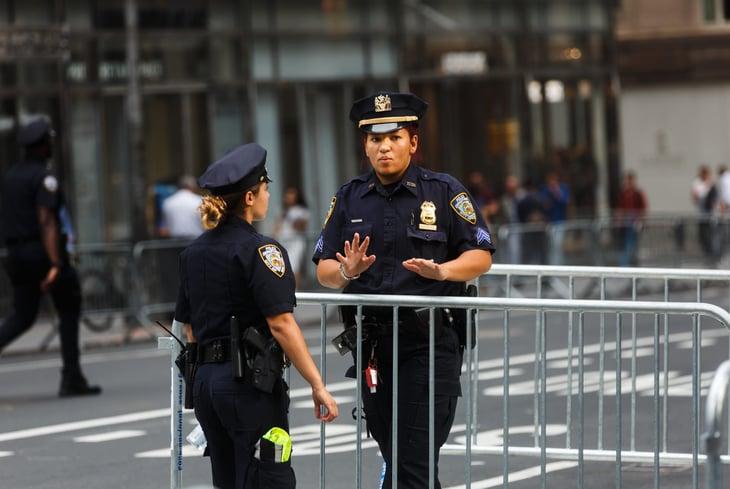 New York City police in Manhattan