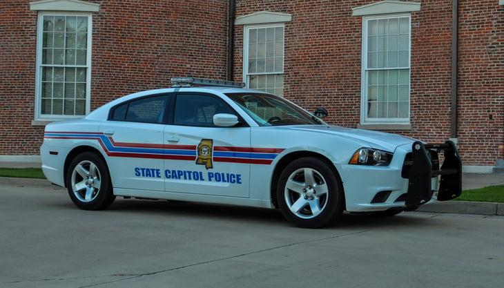 Police car in Jackson, Mississippi