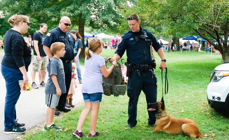 Police dog in Richmond, Kentucky