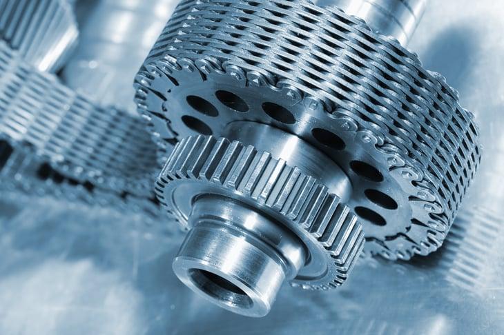 aerospace gears and chain, titanium