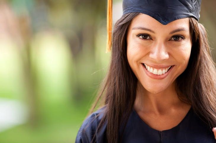 Woman college graduate