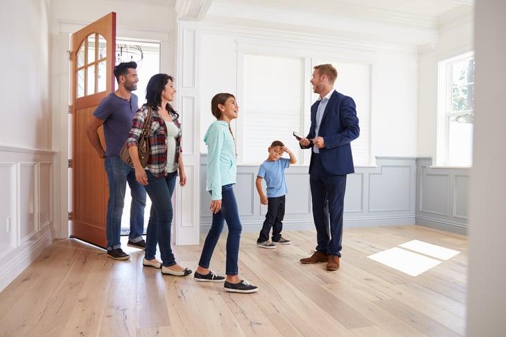 clients Realtor Hispanic Family New Home