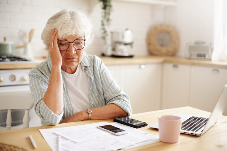Senior upset about finances