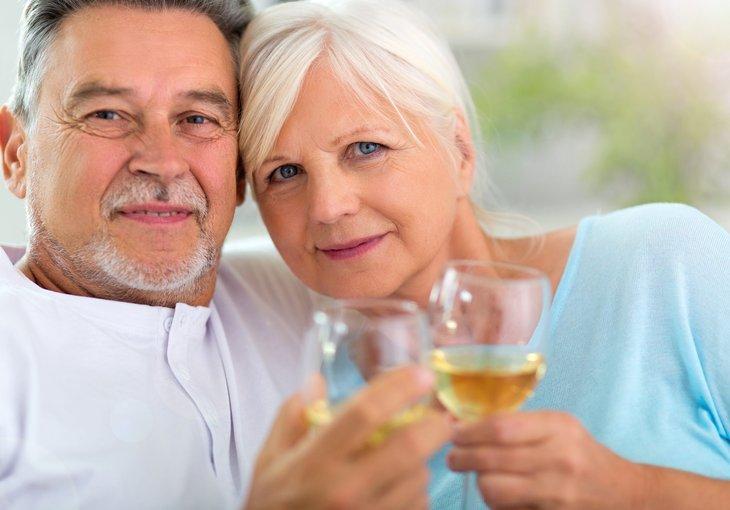 retirees celebrating low taxes