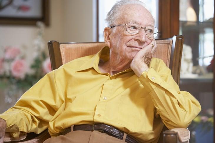 A bored senior regretting retirement