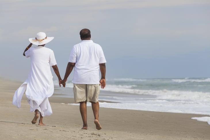 Couple, Senior Beach