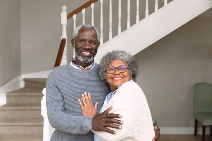 Black couple at home