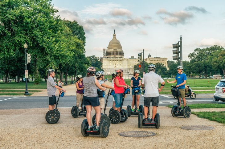Segway tour on Capitol Hill