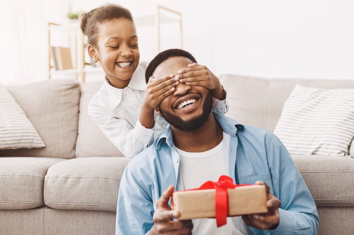 Family opening gifts