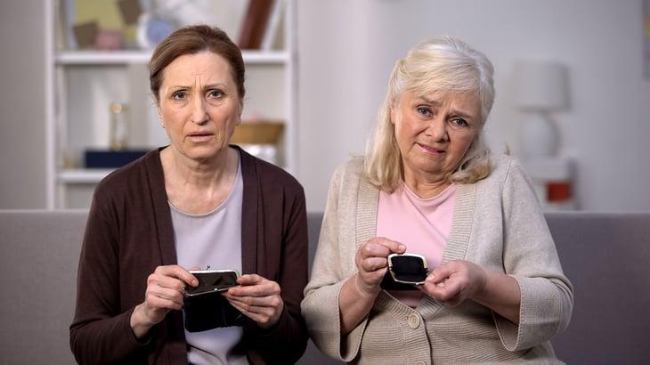 Broke retired women