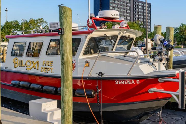 Biloxi, Mississippi, fire fighting boat