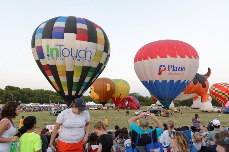 Plano, Texas hot air balloons