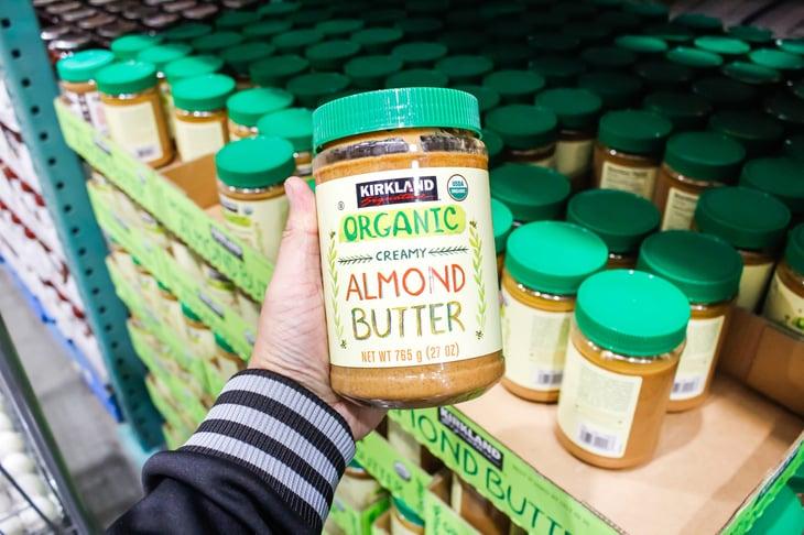 Costco's Kirkland Signature brand of organic creamy almond butter