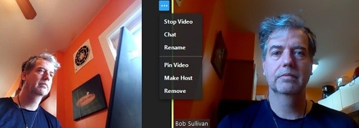 Screenshot of settings on a Zoom conference