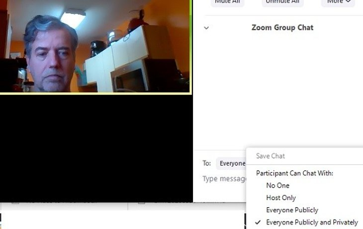 Screenshot of a Zoom conference
