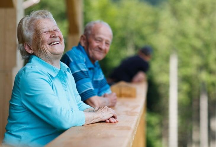 Happy retiree couple