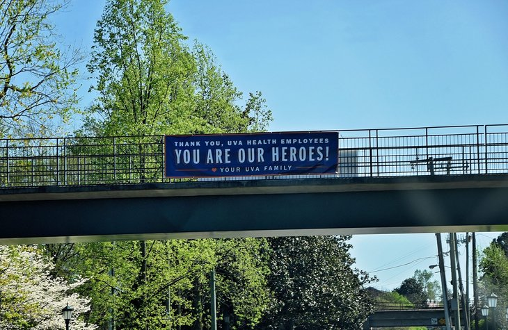 UVA health care heroes banner