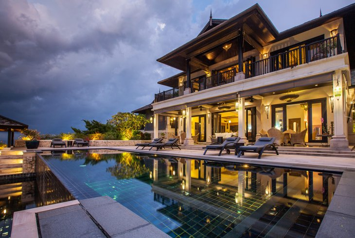 Luxury villa or mansion with pool