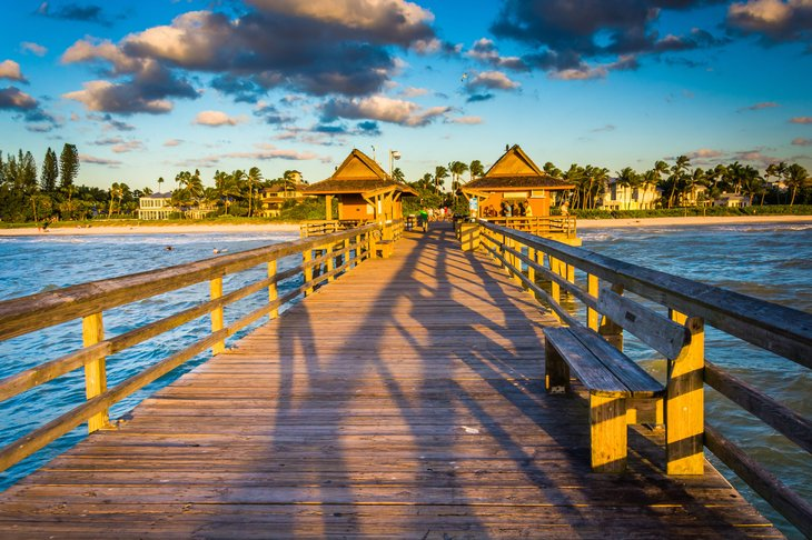 A fishing pier in Naples, Florida