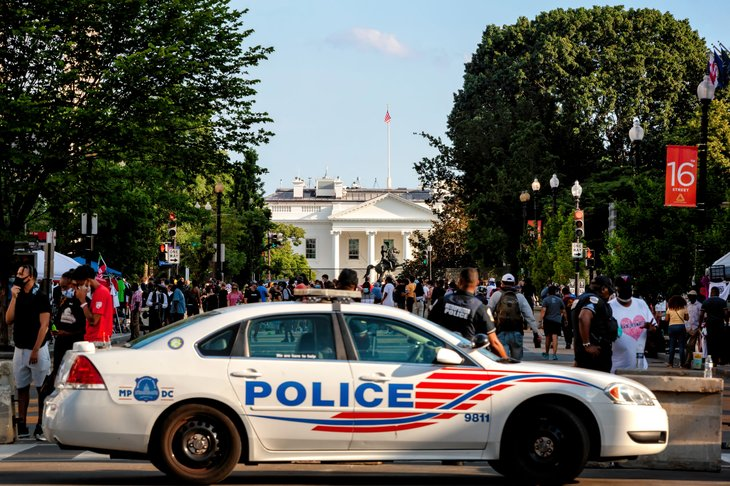 Police car in Washington, D.C.