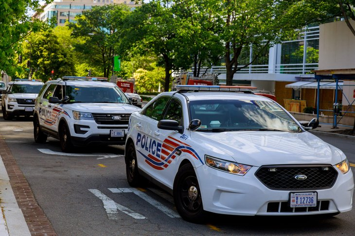 police cars in Washington, D.C.