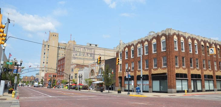 A street-level view of Flint, Michigan
