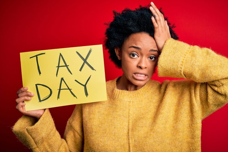 Woman worried about paying taxes on Tax Day
