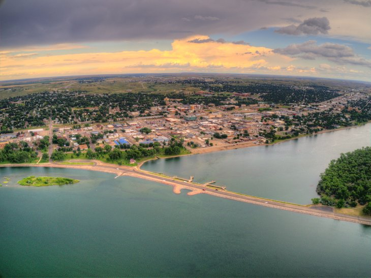 Pierre, South Dakota from above