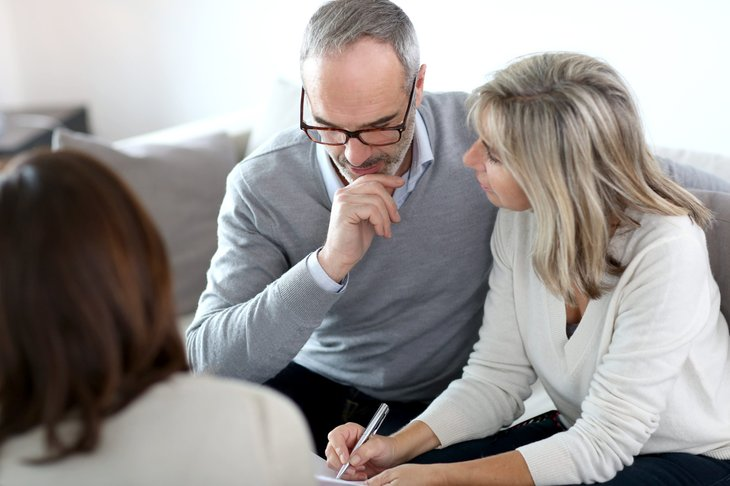 Older couple thinking about their long-term investments