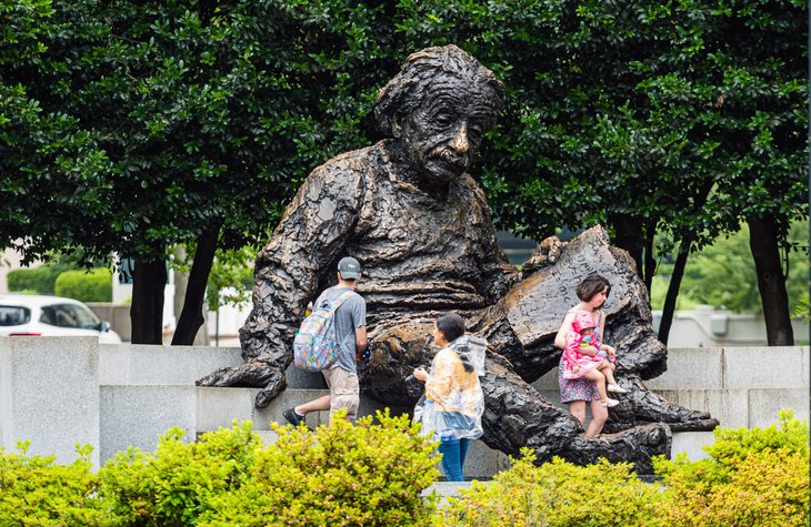 Albert Einstein memorial statue in Washington, D.C.