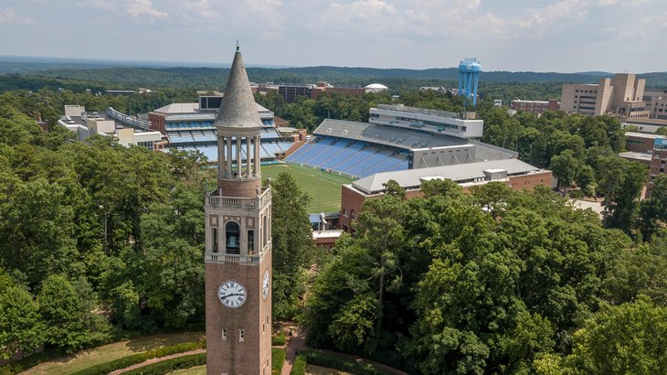 Chapel Hill, North Carolina from above
