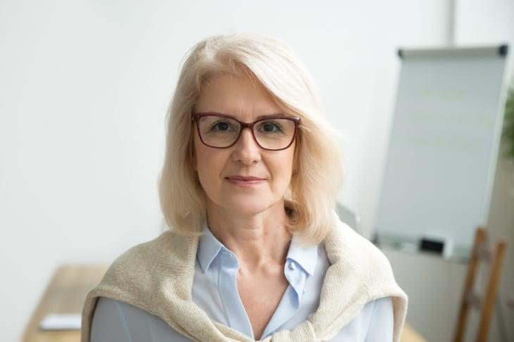 Older female teacher