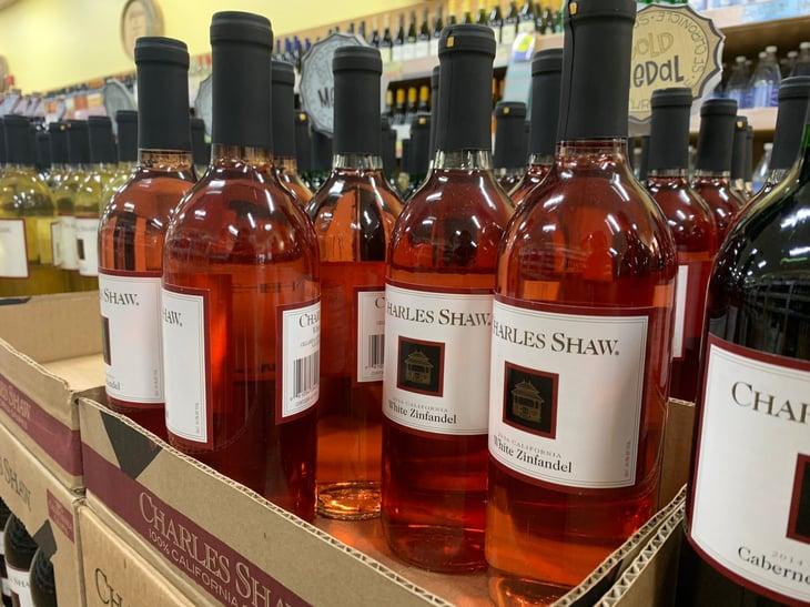 Charles Shaw wine at Trader Joe's