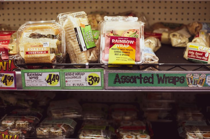 Premade wraps and sandwiches at Trader Joe's