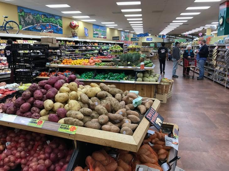 Trader Joe's produce section