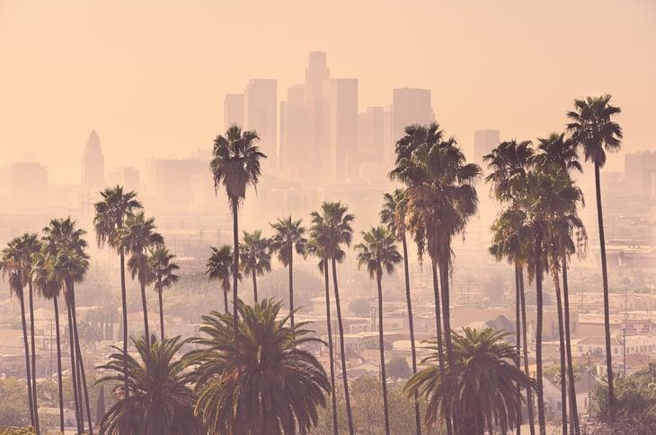 Los Angeles smoky skyline