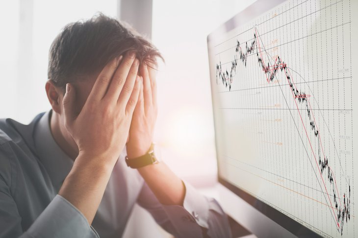 Man worried about a volatile stock market