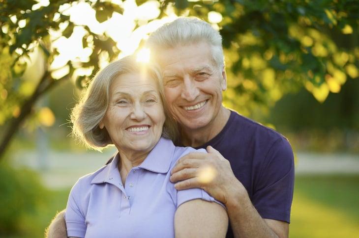 Happy retired senior couple
