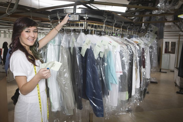 Dry cleaner worker