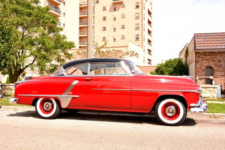 Red Oldsmobile