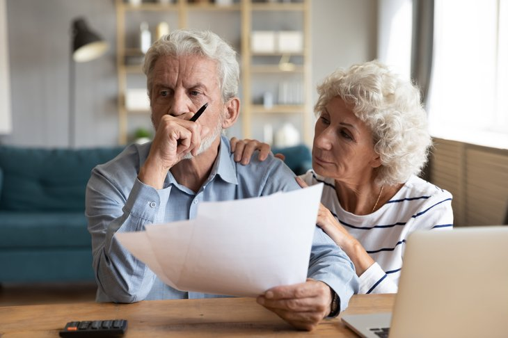 Seniors worried about their financial plans for retirement