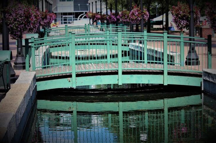 Decorative bridges in Dayton, Ohio
